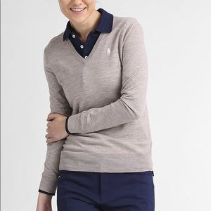 Polo Ralph Lauren C Neck Sweater in Taupe